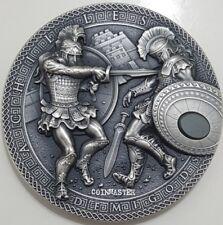 NIUE 2017 2 Oz Silver ACHILLES VS HEKTOR, DEMIGODS Ultra High Relief Coin..