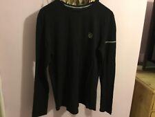 Men's Foray Long Sleeve Cotton BLACK Top T shirt.