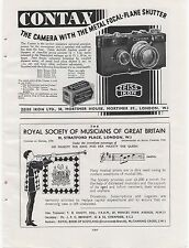 1928 Page of six adverts. 2 on the front & 4 on the back. CONTAX CAMERA etc. etc