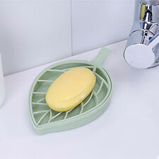 Leaf Shape Soap Box Dish Storage Plate Tray Holder Case Container UK
