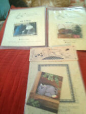 Lot Of 3 Older  Cat Soft-Sculpture Patterns - Cotton Ginny & more