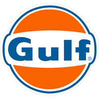Gulf Petroleum Vinyl Decal Sticker Gasoline Racing 4 Stickers