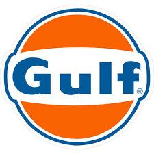 Gulf Petroleum Vinyl Decal Sticker Gasoline Racing 4 Stickers