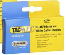 Tacwise CT-45 10mm white cable staples  Boxed in 1,000