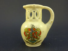 Arcadian China Model of a Puzzle Jug with Whiting Bay Crest