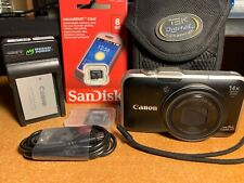 Canon PowerShot SX230 HS 12.1MP Digital Camera - Black + Case + Card