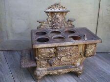Antique Acme Cast Iron Salesman Sample Child's Toy Stove Original Missing Parts
