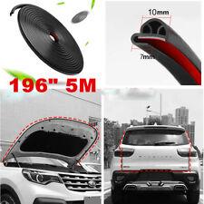 "New 196"" 5M Rubber Protector Seal Weatherstrip Car Motor Bonnet Door Universal"