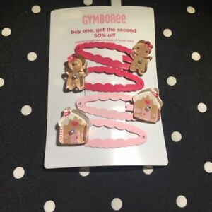 Vtg Gymboree hair clips snap barrette HTF Strawberry Farm Cozy Owl set 2 4 upick