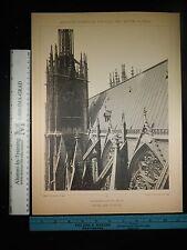 Rare Antique Original VTG German Cathedrale Zu Metz Photogravure Art Print