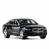 1/32 S90 2019 Die Cast Modellauto Schwarz Spielzeug Pull Back Sammlung