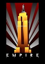 ART DECO EMPIRE STATE  BUILDING VINTAGE ART DECO A4 GLOSSY PHOTO POSTER PRINT#15