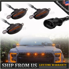 Universal 12 LED Truck Grille Lights Smoked Lens Amber 3X Frone Grill Lighting