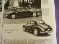 AUTOCAR ROAD TEST VEHICLE DATA 1955 M.G. MAGNETTE SALOON  ON 3 SHEETS A4