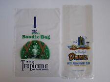Set of 2 - Tropicana & Dunes Casino Las Vegas Nevada Money Bags