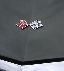 1968-1972 Corvette C3 Nose Emblem Crossed Flags 638950