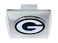 Green Bay Packers Hitch Cover Metal Color Chrome NFL Football