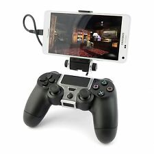 Mobile Phone Holder Clamp Mount for PS4 Controller Playstation 4 Gamepad