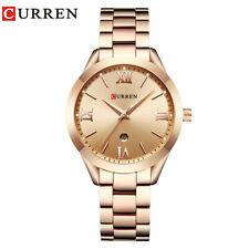 Reloj De Pulsera Relojes de oro de lujo CURREN mujeres reloj señoras y chicas de negocios Calendario