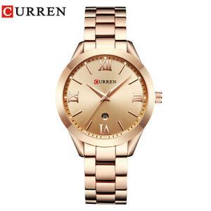 CURREN Women Watch Luxury Gold Watches Ladies Girl Business Calendar Wristwatch