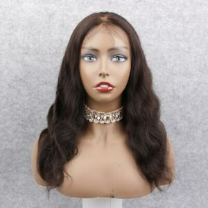 """30% Off ! Knots Bleached 18"""" #2 Body Wave 100% Indian Remy Hair Full Lace Wig"""