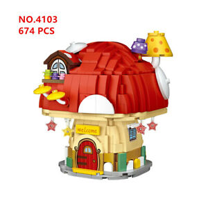 LOZ 4103 mini Blocks Kids Building Toys Girls Puzzle Mushroom House no box