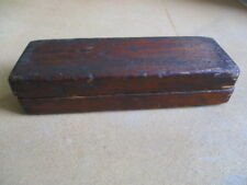 ANTIQUE SHARPENING STONE with WOODEN BOX