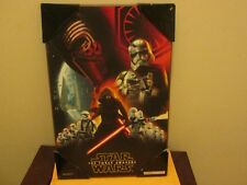 "Silver Buffalo Disney Star Wars Wood Poster Plaque 19"" X 13""  New"