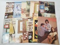 Lot of 14 Counted Cross Stitch Patterns Books Charts Vintage 1970's- 80's
