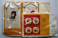 TWO The Creative Circle Cross Stitch Christmas Kits #2131 [1979] & #2173 [1982]
