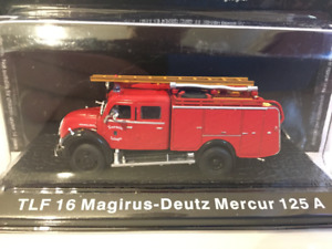 TLF 16 Magirus Deutz Mercur 125A DeAgostini GZ03 1:72 Scale on Base