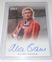 Lost Rittehouse Autograph Trading Card Alice Evans (The Originals,Grimm)