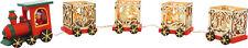 Dekozug aus Holz 5-teilig für Teelichter Weihnachten Weihnachtsdeko Adventsdeko