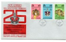 New Hebrides Elizabeth II Silver Jubilee English Unadressed FDC
