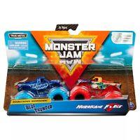 Monster Jam Double Down Showdown Monster Trucks Blue Thunder vs Hurricane Force