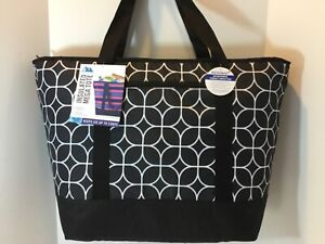 California Innovations/ Arctic Zone Black Insulated Tote Bag XXL Hot Frozen Food