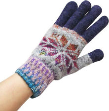 Vivienne Westwood Man Japan Gloves Gradient Snow Pattern Wool Blend Knit Orb-NWT
