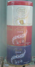 Lindt Lindor Chocolates 3 Part Tin Very Unusual Held 525g  Great Tin  Empty