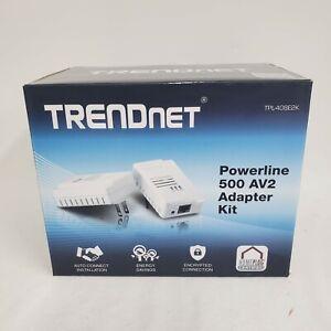 TRENDnet TPL-408E2K Powerline 500 AV2 Networking Adapter Kit