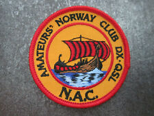 Amateurs Norway Club CB Radio Cloth Patch Badge (L23S)