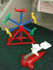 VINTAGE ACME MINIATURE 1:16 1:24 DOLLHOUSE MARVI AIRPLANE FERRIS WHEEL PLAY TOY!