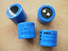 Snap in electrolytic capacitor 100uf 450V 20% 105c   30 x 25mm  4 pieces   Z331
