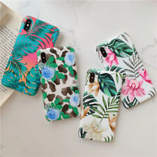 New arrival Soft phone case cover For iPhone 11 XS MAX XR X 7 8 Plus Flower Leaf