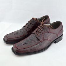 BOLANO Mens Oxford Wine Croc / Lizard Print Dress Shoes SIZE 10 Prom