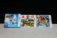 Lot of 3 Nintendo 3DS Games (Kid Icarus, Mario Bros & Rabbids) - TESTED