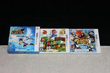 Lot of 3 Nintendo 3DS Games (Kid Icarus, Mario Bros & Rabbids) - TESTED