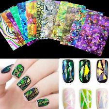 Women Glitter 3D Colorful Nail Art Transfer Sticker Foil Gel Beauty Decal Tool