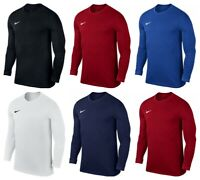 Nike Boys Long Sleeve Shirts Kids Park VII Sports Football Training Tops T Shirt