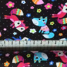 MR  FOX   FLANNEL//BRUSHED COTTON  FABRIC   FABRI- QUILT ONLY  2.69  FAT QUARTER