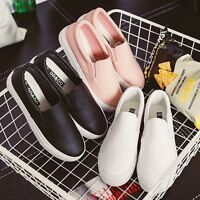 9e0b1c268d8 Fashion Korean Women Girl Leather Casual Flats Oxfords Loafer Slip On Shoes